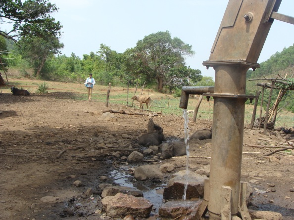 A hand pump in Kalahandi in Orissa